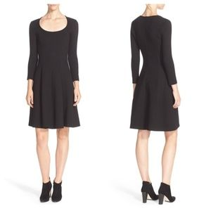 Theory Beyao Diamond Knit Fit & Flare Dress